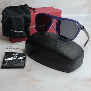 Salvatore Ferragamo men sunglasses navy